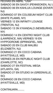 fechas gira USA 2013 Adolescentes